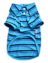 Dog Shirt / T-Shirt Dog Clothes Summer Spring/Fall Stripe Casual/Daily Red Blue Red/Blue