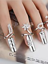 Pure Womens 925 Silver-Plated High Quality Handwork Elegant Ring 1PCS Promis Nail Finger Rings for Couples Random Color