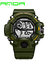 SANDA 남성 스포츠 시계 밀리터리 시계 스마트 시계 패션 시계 손목 시계 LED 달력 피트니스 트렉커 스톱워치 야광 디지털 일본 쿼츠 실리콘 밴드 캐쥬얼 블랙