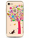 Para Estampada Capinha Capa Traseira Capinha Arvore Macia TPU para AppleiPhone 7 Plus iPhone 7 iPhone 6s Plus/6 Plus iPhone 6s/6 iPhone