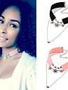 Женский Ожерелья-бархатки Ожерелья с подвесками Татуировка Choker Кристалл Жемчуг Хрусталь Кожа СплавТату-дизайн Сексуальные платья Мода