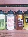Transparent Sports To-Go Outdoor Drinkware, 1000 ml Portable Glass Polypropylene Juice Water Water Bottle