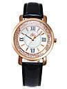 Женские Модные часы Повседневные часы Имитация Алмазный Кварцевый PU Группа Черный Белый Красный Розовый