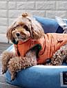 Собаки Плащи Оранжевый Синий Одежда для собак Зима Полоски Спорт