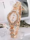 Women\'s Fashion Watch Bracelet Watch Quartz Rhinestone Imitation Diamond Alloy Band Elegant Gold Strap Watch