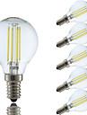 3.5 E14 LED лампы накаливания P45 4 COB 400/350 lm Тёплый белый Холодный белый AC 220-240 V 6 шт.