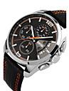 Men\'s Sport Watch Dress Watch Skeleton Watch Fashion Watch Wrist watch Quartz Genuine Leather Band Charm Casual Multi-Colored