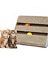 Игрушка для котов Игрушки для животных Интерактивный Когтеточка Бумага Бежевый