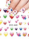 1pcs Sweet Beautiful Love Heart Design Valentine\'s Day Nail Art Sticker lovely Heart Nail Water Transfer Decals Nail Beauty Design STZ-440