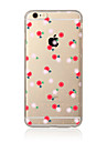 Pour Transparente Motif Coque Coque Arriere Coque Fleur Flexible PUT pour AppleiPhone 7 Plus iPhone 7 iPhone 6s Plus/6 Plus iPhone 6s/6