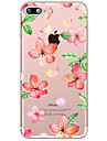Pour Transparente Motif Coque Coque Arriere Coque Fleur Flexible PUT pour AppleiPhone 7 Plus iPhone 7 iPhone 6s Plus iPhone 6 Plus iPhone