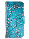 For Samsung Galaxy A3(2016) A5(2017) Case Cover Plum Blossom Pattern PU Material Painted Mobile Phone Case A3(2017) A5(2016)