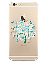 Pour Transparente Motif Coque Coque Arriere Coque Arbre Flexible PUT pour AppleiPhone 7 Plus iPhone 7 iPhone 6s Plus iPhone 6 Plus iPhone