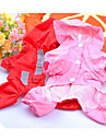 Dog Rain Coat Red Pink Dog Clothes Spring/Fall Solid Sports