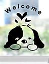 Животные Наклейки Простые наклейки Декоративные наклейки на стены Наклейки для туалета,Бумага материал Украшение дома Наклейка на стену
