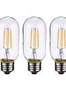 4W B22 E26/E27 LED лампы накаливания 4 COB 400 lm Тёплый белый Регулируемая AC 220-240 AC 110-130 V 3 шт.