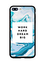 Para Estampada Capinha Capa Traseira Capinha Palavra / Frase Rigida Acrilico para AppleiPhone 7 Plus iPhone 7 iPhone 6s Plus iPhone 6s