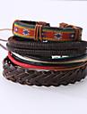 The New Vintage Cowhide Ancient Hand Woven Bracelet Cortical Layers Hand Rope Men\'s Bracelet Adjustable Size046