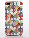 Para Aspero Estampada Capinha Capa Traseira Capinha Padrao Geometrico Rigida PC para AppleiPhone 7 Plus iPhone 7 iPhone 6s Plus iPhone 6