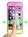 Pour Ultrafine Coque Coque Integrale Coque Degrade de Couleur Flexible PUT pour AppleiPhone 7 Plus iPhone 7 iPhone 6s Plus iPhone 6 Plus