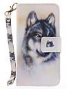 Для Кошелек Бумажник для карт со стендом Флип С узором Кейс для Чехол Кейс для Животный принт Твердый Искусственная кожа для AppleiPhone