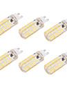4W G9 E26/E27 Lampadas Espiga T 80 SMD 5730 400 lm Branco Quente Branco Frio Regulavel Decorativa AC 220-240 AC 110-130 V 6 pcs