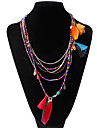 Women\'s Statement Necklaces Feather Alloy Unique Design Bohemian Jewelry For Party Daily Casual 1pc