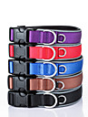 Dog Nylon Reflective Adjustable Safety Training Collar  Solid Red Black Blue Brown Purple