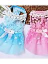 Собаки Платья Одежда для собак Лето Принцесса Милые На каждый день Спорт Синий Розовый