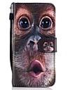 Para Carteira Porta-Cartao Com Suporte Flip Estampada Capinha Corpo Inteiro Capinha Animal Rigida Couro PU para SamsungA3 (2017) A5