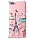 Pour Transparente Motif Coque Coque Arriere Coque Nourriture Tour Eiffel Flexible PUT pour AppleiPhone 7 Plus iPhone 7 iPhone 6s Plus