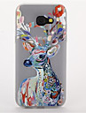 For Samsung A3(2017) A5(2017)  Glow in the Dark Frosted Pattern Case Back Cover Case Animal Soft TPU A7(2017)