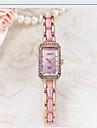 Women\'s Fashion Watch Simulated Diamond Watch Quartz Ceramic Band Casual Black White Gold Pink Purple