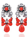 Drop Earrings Crystal Crystal Alloy Flower Style Geometric Geometric Jewelry Party Daily Casual 1 pair