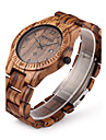 Men\'s Wrist watch Unique Creative Watch Wood Watch Quartz Japanese Quartz Calendar Wood Band Luxury Brown