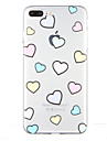 Pour Transparente Motif Coque Coque Arriere Coque Coeur Flexible PUT pour AppleiPhone 7 Plus iPhone 7 iPhone 6s Plus iPhone 6 Plus iPhone
