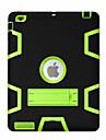 Para Antichoque Com Suporte Rotacao 360° Capinha Corpo Inteiro Capinha Padrao Geometrico Rigida PC para Apple iPad 4/3/2