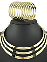 Bracelete Colarinho Moda Euramerican Liga Forma Redonda Dourado Prata 1 Colar 1 Bracelete Para Festa Diario 1 ConjuntoPresentes de