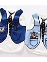 Chien Tee-shirt Vetements pour Chien Ete Britannique Mignon Decontracte / Quotidien Bleu de minuit Bleu