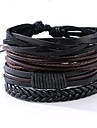 The New Vintage Cowhide Ancient Hand Woven Bracelet Cortical Layers Hand Rope Men\'s Bracelet