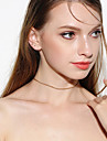 Women\'s Choker Necklaces Jewelry Single Strand Alloy Basic Euramerican Fashion Personalized Simple Style Jewelry ForDaily Casual Sports