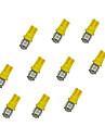 10pcs t10 5 * 5050 smd led 자동차 전구 노란색 빛 dc12v