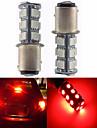 2шт 1157 18 * 5050 smd светодиодный свет автомобиля lulb красный свет dc12v
