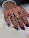 Midi Rings Euramerican Fashion Vintage Alloy Round Silver Jewelry 1 Set