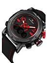 NAVIFORCE Men\'s Sport Watch Fashion Watch Wristwatch Casual Watch Quartz Calendar Dual Time Zones PU Band Luxury Cool Unqiue Watches