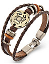 Unsex Vintage Cancer Weave Leather Bracelet   Jewelry For Daily 1 pc