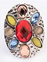 Euramerican Oval Multicolor Luxury Multi-stone Women\'s Cuff Ring Movie Jewelry
