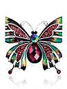 Женский Броши Кристалл Стразы Уникальный дизайн Мода Драгоценный камень В форме банта Радужный Бижутерия ДляСвадьба Для вечеринок