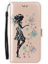 용 케이스 커버 지갑 카드 홀더 스탠드 플립 패턴 마그네틱 풀 바디 케이스 섹시 레이디 글리터 샤인 버터플라이 하드 인조 가죽 용 HuaweiHuawei P10 Lite Huawei P10 화웨이 P9 라이트 Huawei P8 Lite