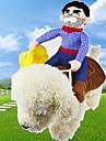 Собаки Костюмы Одежда для собак Лето Весна/осень Мультфильмы Милые Косплей ковбой Синий
